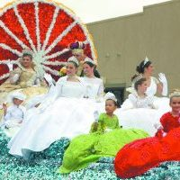 The Texas Citrus Fiesta Royal Court Float at the TCF Parade of Oranges Saturday, Jan. 25, 2020