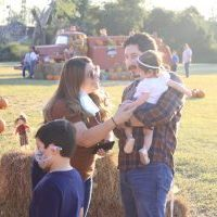 Ericka and Marco Torres with their children at a newly opened pumpkin patch located at the corner of Bryan Road and Business 83 in Mission Sunday, Oct. 18, 2020. Progress Times photo by Jose De Leon III