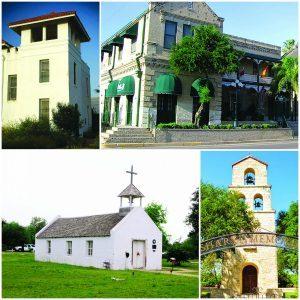 The La Lomita Mission Chapel, The original Hidalgo County Jail, La Borde House and Shary Memorial Chapel.