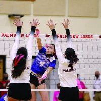 The 6-0 Mission Veterans Lady Patriots and the 2-4 Palmview Lady Lobos are two of the five Big 7 volleyball teams that remain in the hunt for a playoff spot with less than two weeks remaining in district play. Progress Times photo by Mario Magallon.