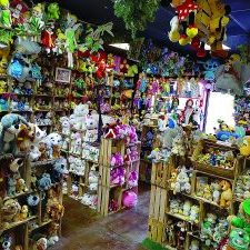 Plush figures and toys cover the walls of T & E Treasures, located at 409 N. Bryan Rd. Suite 103. Photo courtesy of Facebook.