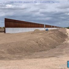 Fortco Properties Ltd. filed a photo of the border wall in a land condemnation lawsuit.